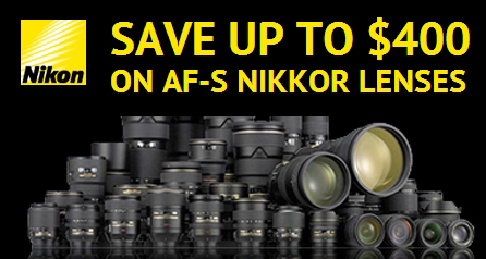 Up to $400 Off New Nikon Lens Only Rebates now Live !