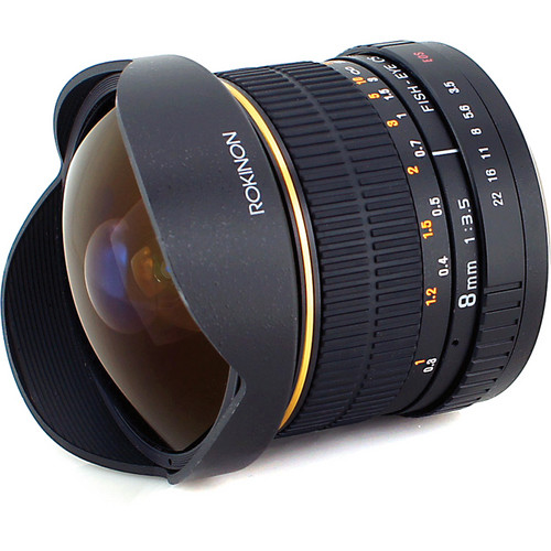 Rokinon 8mm f/3.5 Fisheye Lens for $199 (Authorized Rokinon Dealer) !