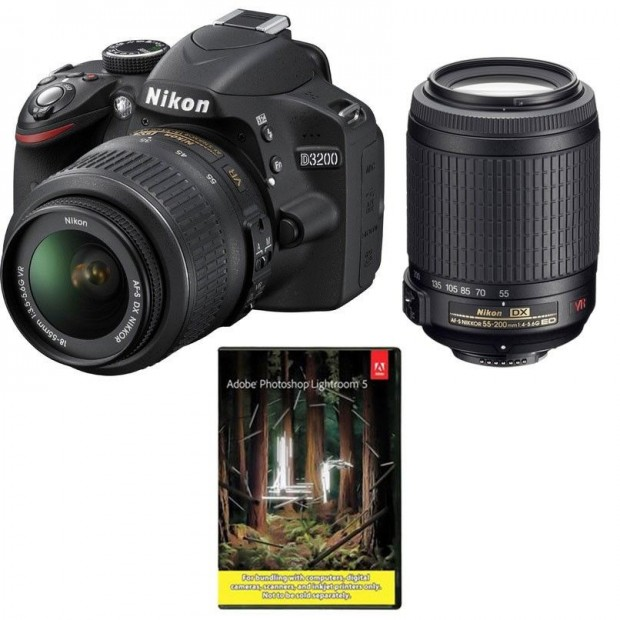 <span style='color:#d1d1d1;'><del>Hot Deal &#8211; Refurbished Nikon D3200 w/ 18-55 &#038; 55-200 VR &#038; LR5 for $399 !</del></span>
