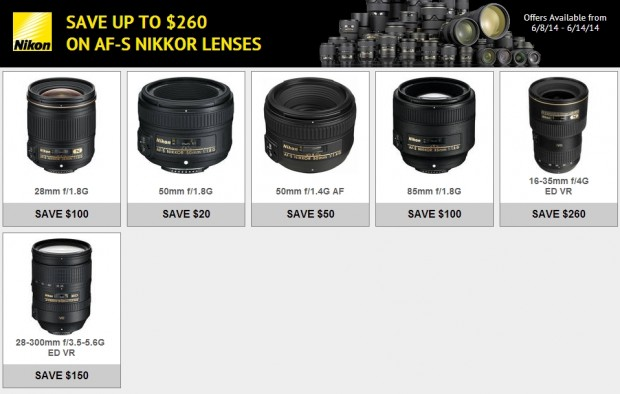 <del>Save Up to $260 on Nikon Lenses (6/8 &#8211; 6/14)</del>