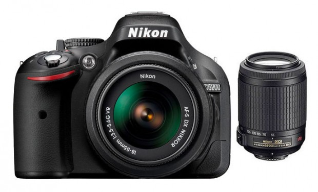 Refurbished Nikon D5200 w/ 18-55mm & 55-200mm VR for $449 !