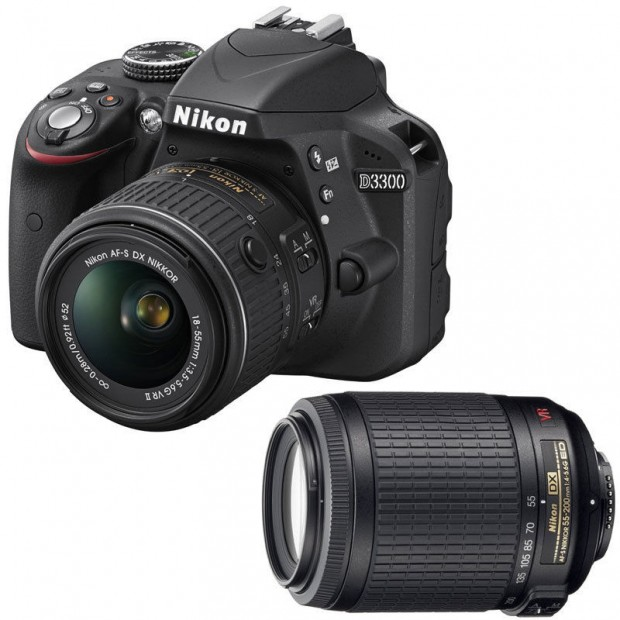 Hot Deal – Refurbished Nikon D3300 w/ 18-55mm VR II + 55-200mm VR for $449 !