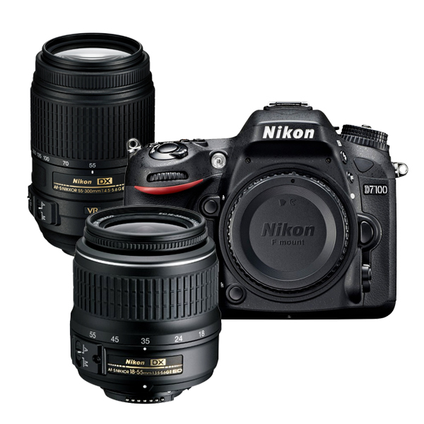 Hot Refurbished Deal – Nikon D7100 w/ 18-55mm & 55-300mm for $699 !