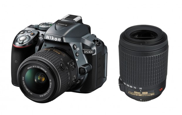Refurbished Nikon D5300 w/ 18-55 VR & 55-200 VR for $579 !