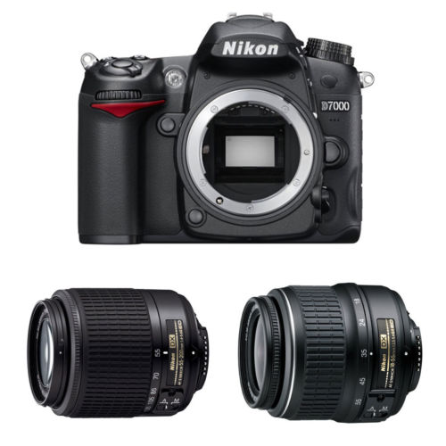 Hot Deal Back – Refurbished Nikon D7000 w/ 18-55, 55-200 Lenses for $499 !