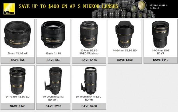 Up to $400 Off on AF-S NIKKOR Lenses now Live !