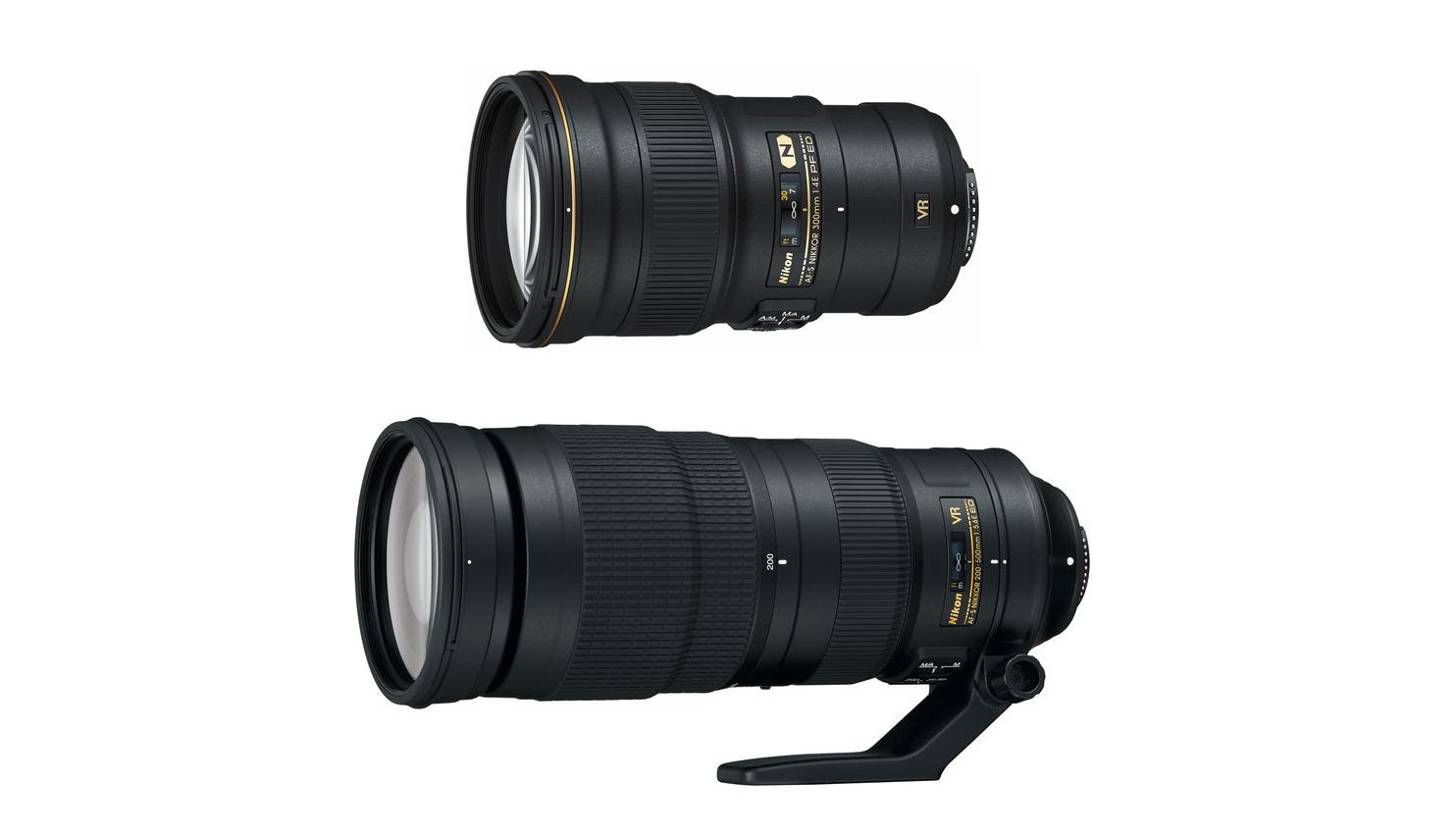 nikon 200 500mm f 5 6e 300mm f 4e lenses now in stock. Black Bedroom Furniture Sets. Home Design Ideas